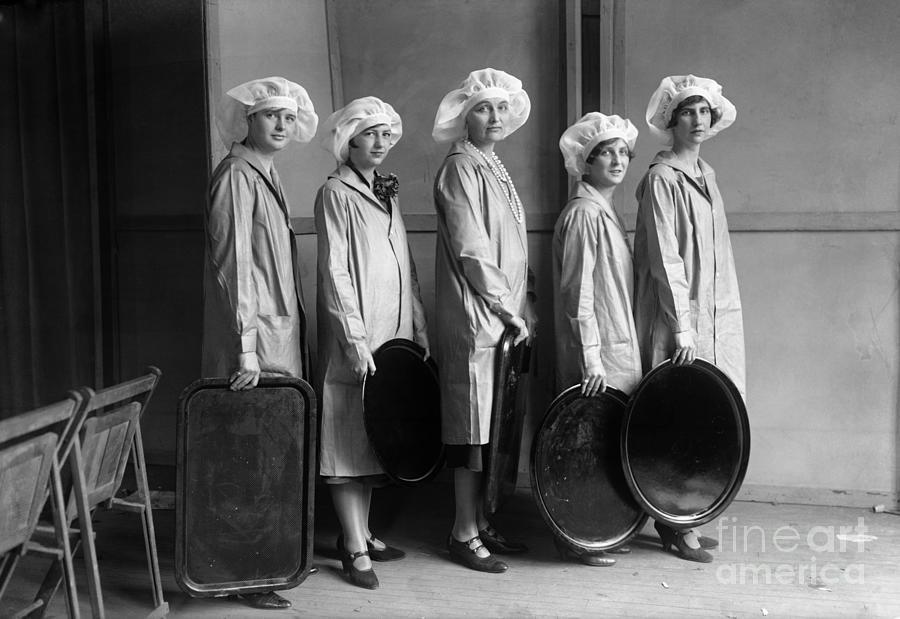 Portrait Of Woman Holding Trays Photograph by Bettmann
