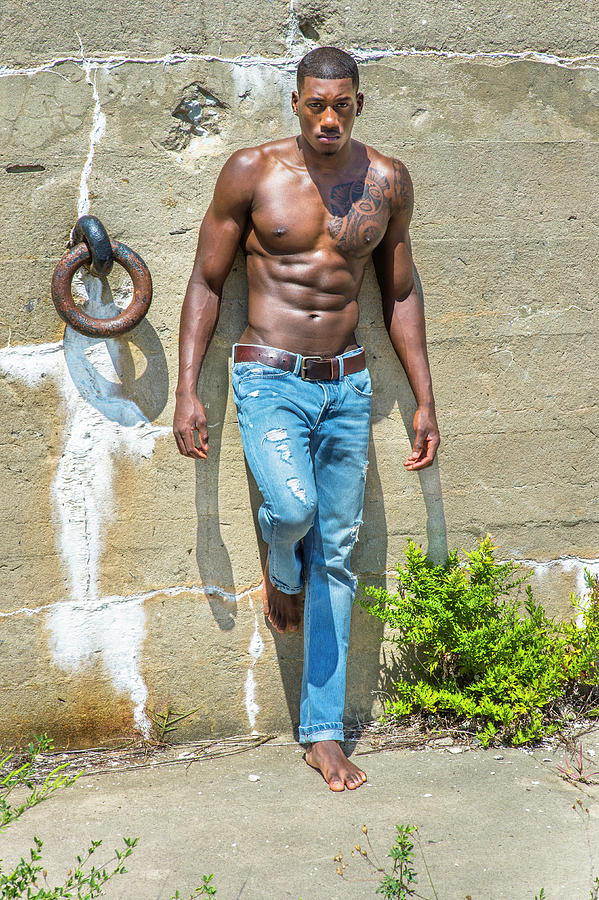 Portrait of  Young Black Fitness Guy by Alexander Image