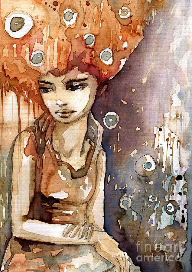 portrait woman 2 by Katarzyna Bruniewska-Gierczak