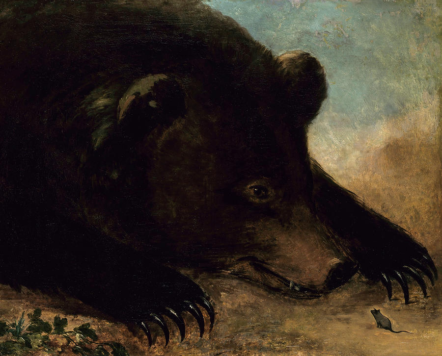 George Catlin Painting - Portraits Of A Grizzly Bear And Mouse, Life Size by George Catlin