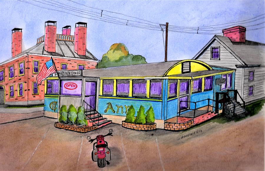 Portside Diner Danvers Drawing