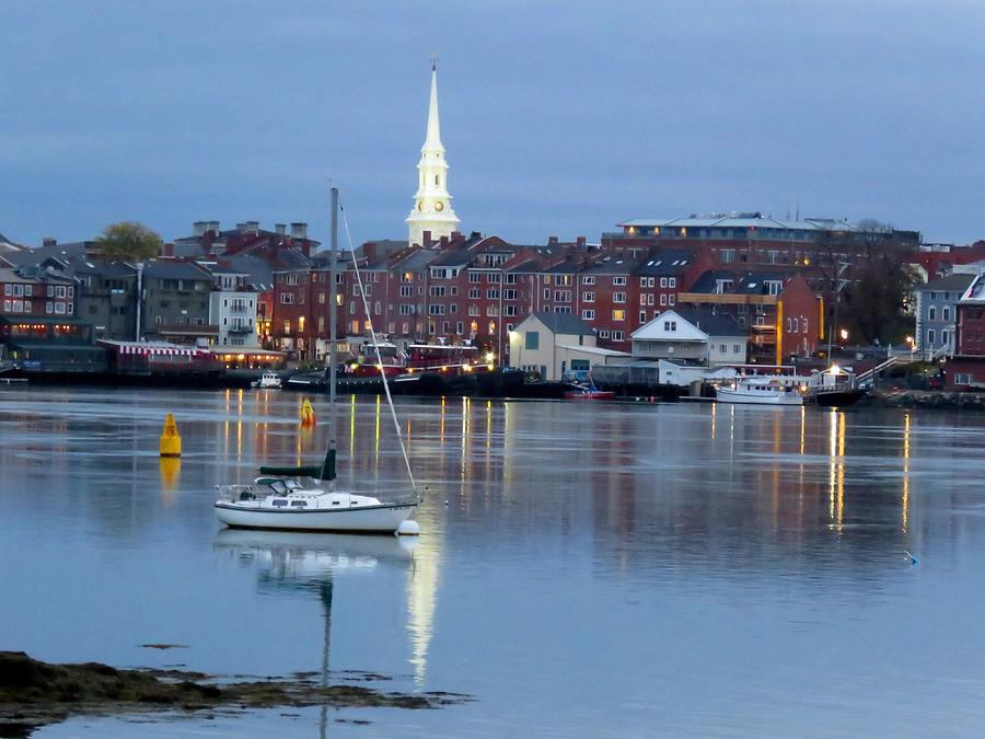 Portsmouth across the Piscataqua River by Keith Stokes