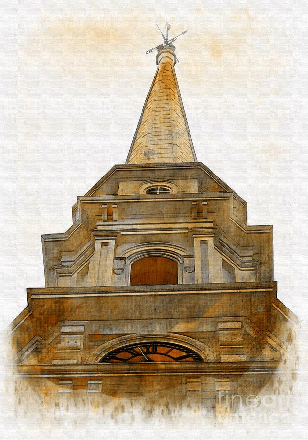 Portsmouth North Church Steeple by Marcia Lee Jones