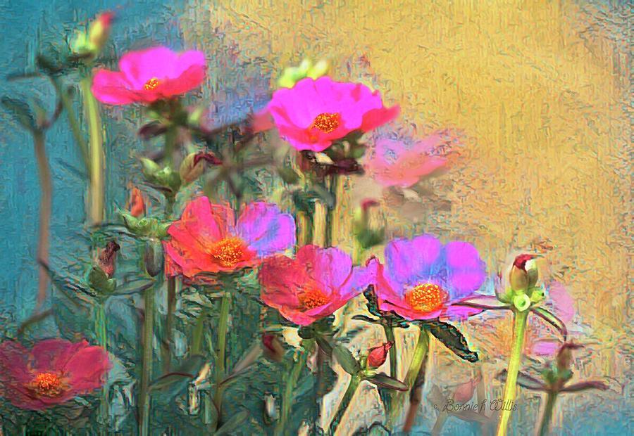 Portulaca Paint by Bonnie Willis