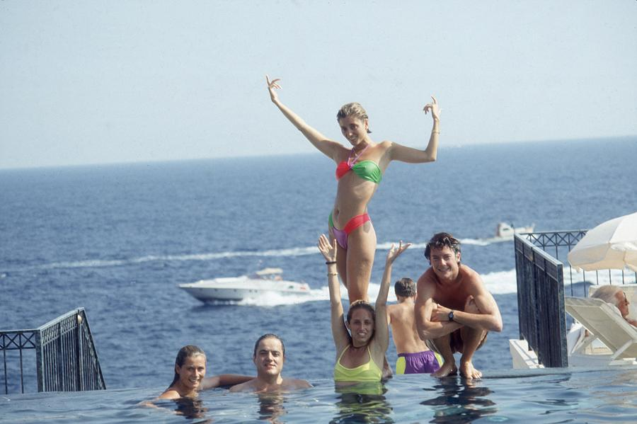 Posing At Cap Ferrat Photograph by Slim Aarons