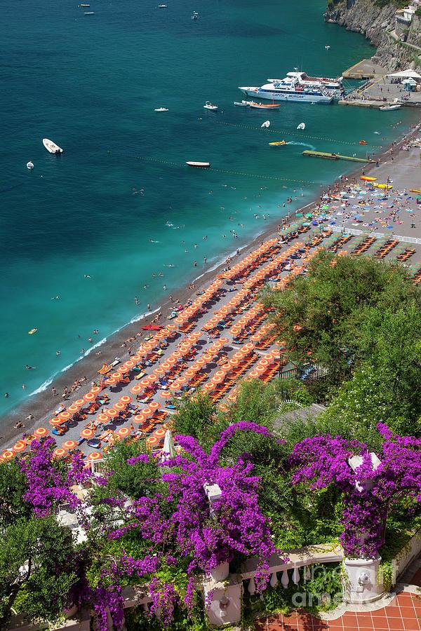 Positano Beach Scene by Brian Jannsen
