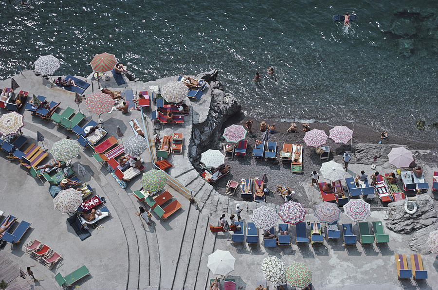 Positano Beach Photograph by Slim Aarons