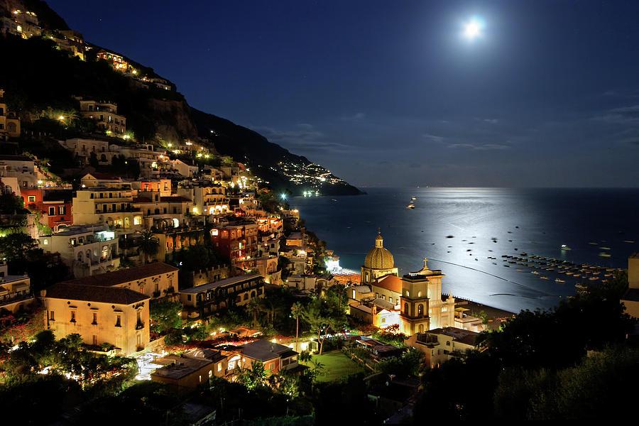 Positano By Night Photograph by Pierpaolo Paldino