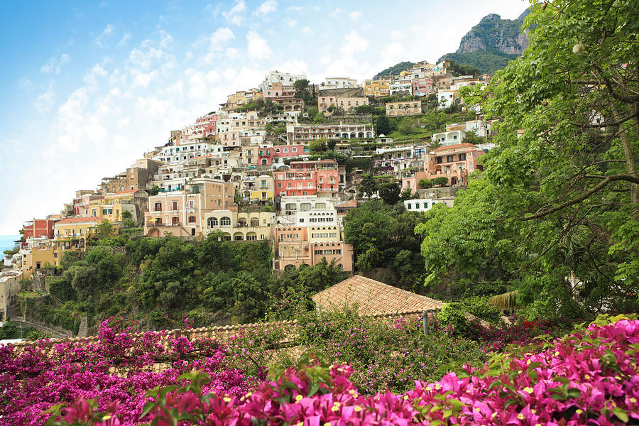 Positano On The Amalfi Coast, Campania Photograph by Romaoslo