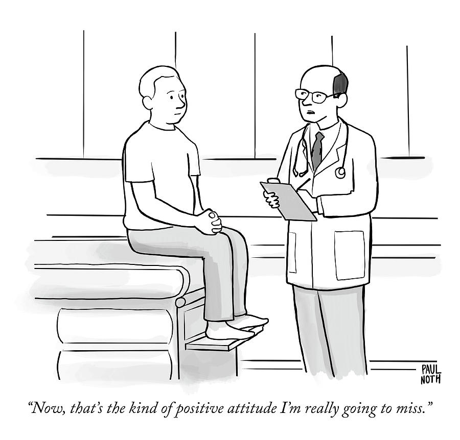 Positive Attitude Drawing by Paul Noth