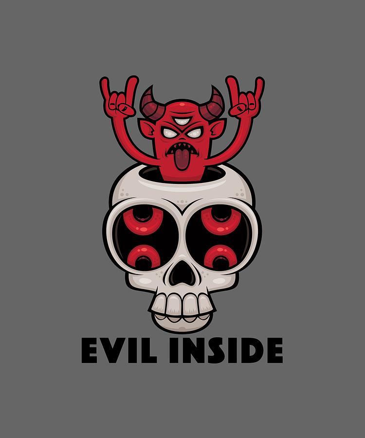 Possessed Skull Evil Inside Digital Art