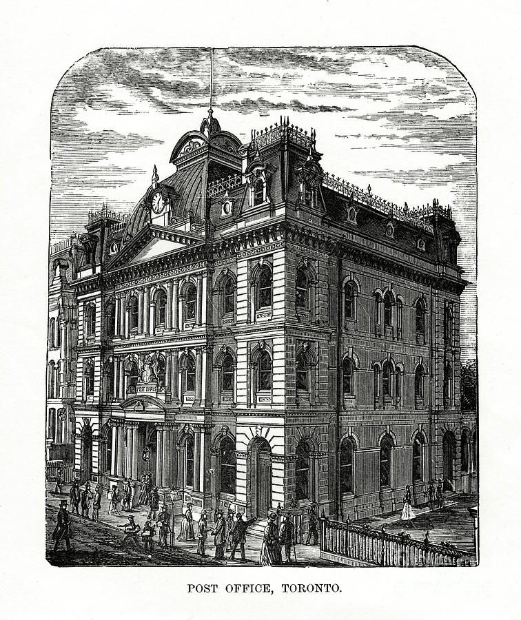Post Office, Toronto, Ontario, Canada Drawing by Print Collector