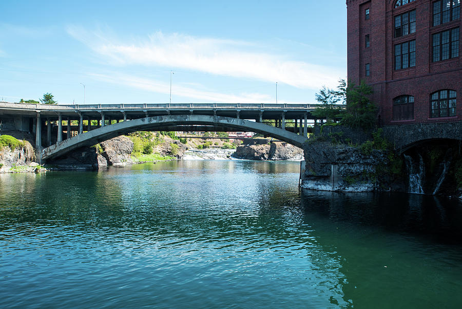 Post Street Bridge and Upper Falls by Tom Cochran