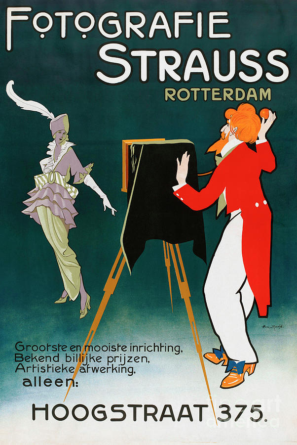 Advertising Painting - Poster Advertising Photographic Studio by A Von Roessel