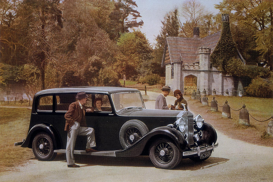 Poster Advertising Rolls-royce Cars Photograph by Heritage Images