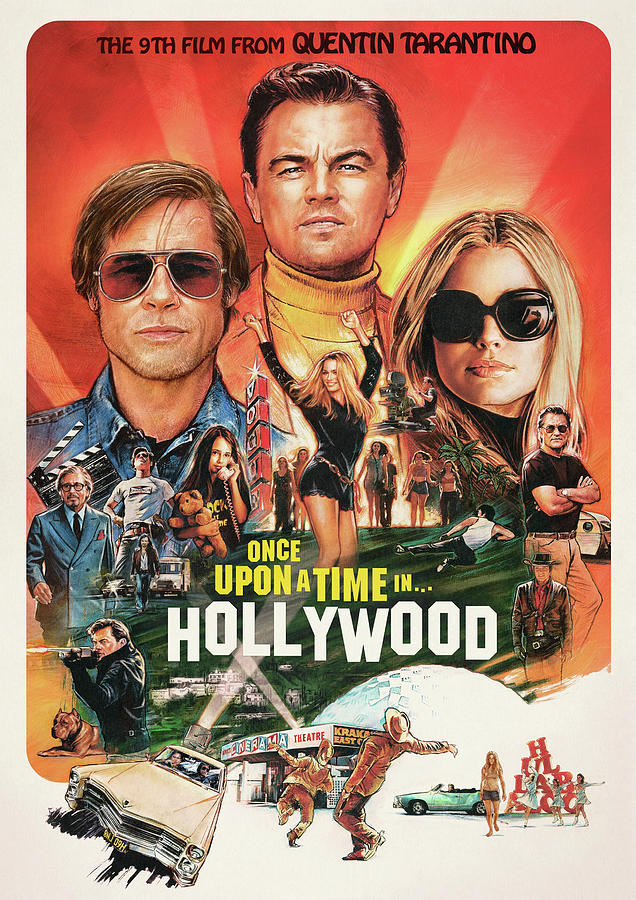 Poster Art Once Upon A Time In Hollywood Digital Art by Lestari Tedjo