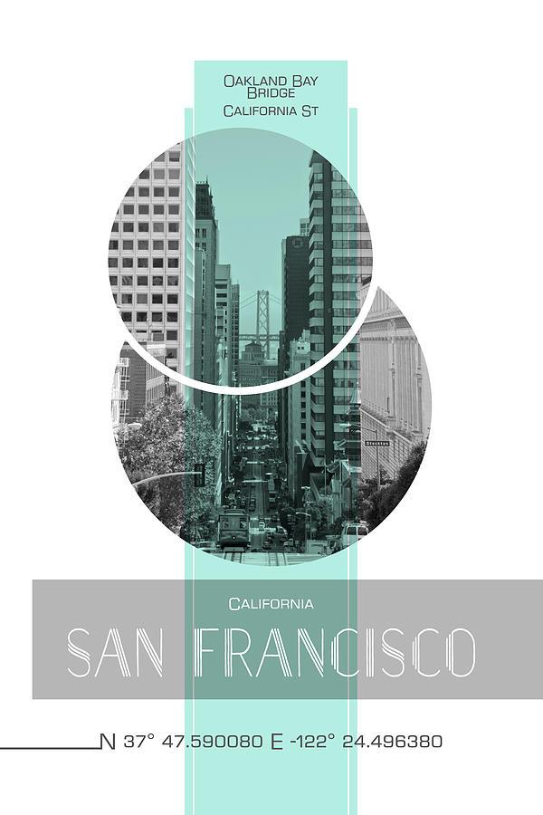 San Francisco Photograph - Poster Art San Francisco California Street by Melanie Viola