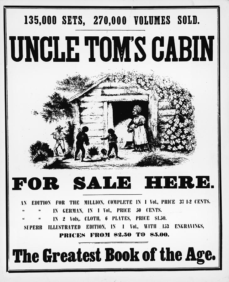 Poster For Uncle Toms Cabin Photograph by Kean Collection