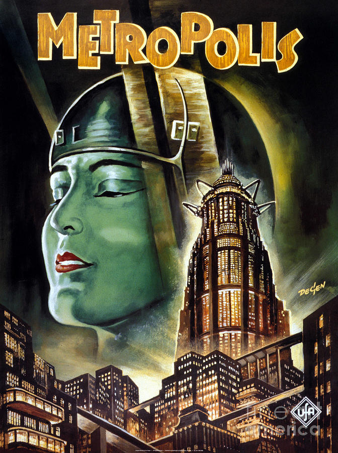 Poster of the film Metropolis, 1926 by European School
