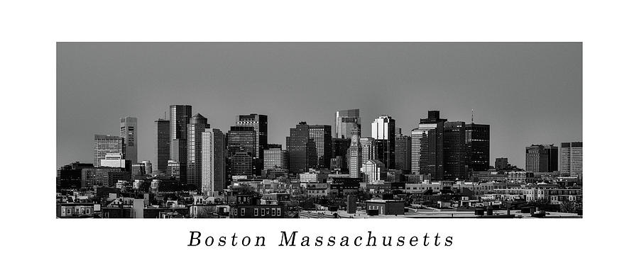 Poster of The skyline of Boston in Massachusetts, USA by Kyle Lee