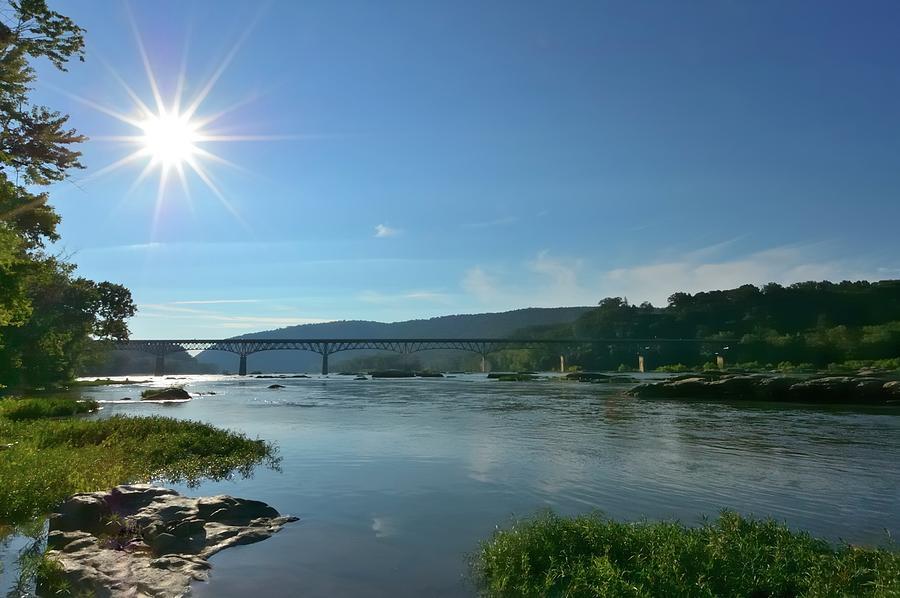 Potomac River Starburst Photograph by Joesboy
