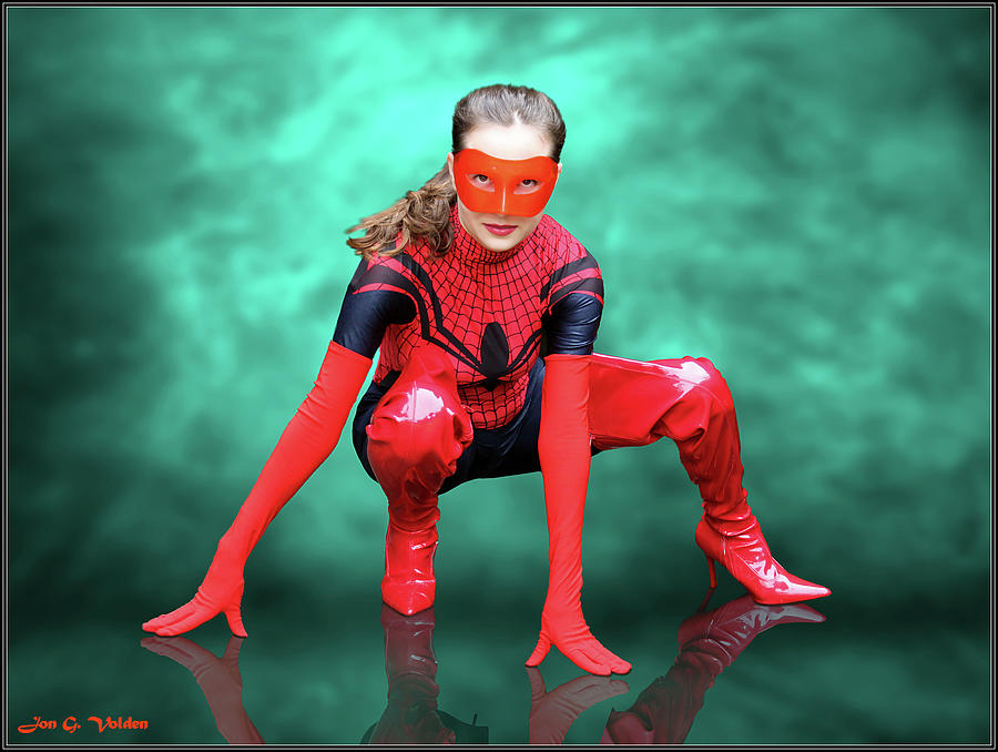 Pouncing Spider Woman by Jon Volden