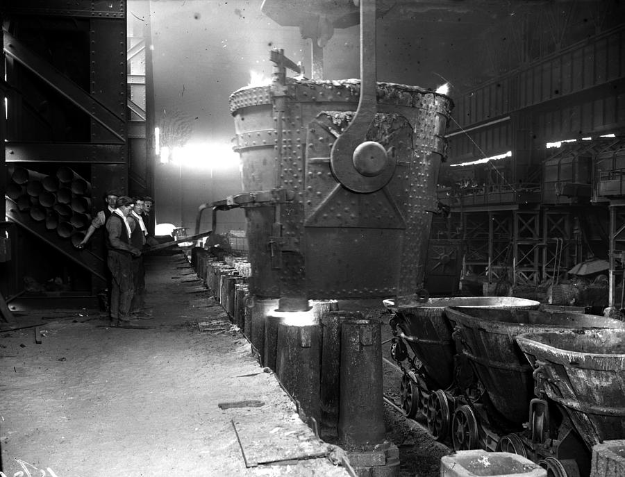 Pouring Molten Steel Photograph by Fox Photos