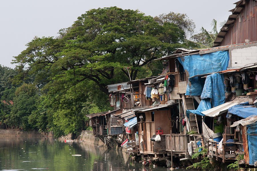 Poverty, Shacks Jakarta, Indonesia Photograph by Diamirstudio