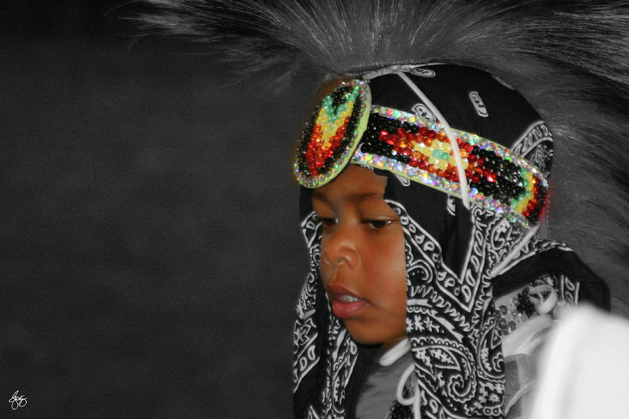 Pow Wow Parade Dancer by Wayne King