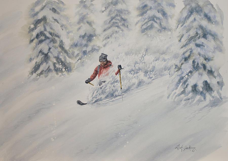 Powder Skiing with Professor McNamara by Link Jackson