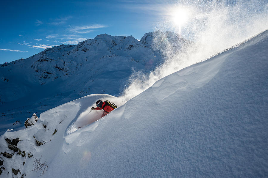 Action Photograph - Powder With Adrien Coirier by Tristan Shu