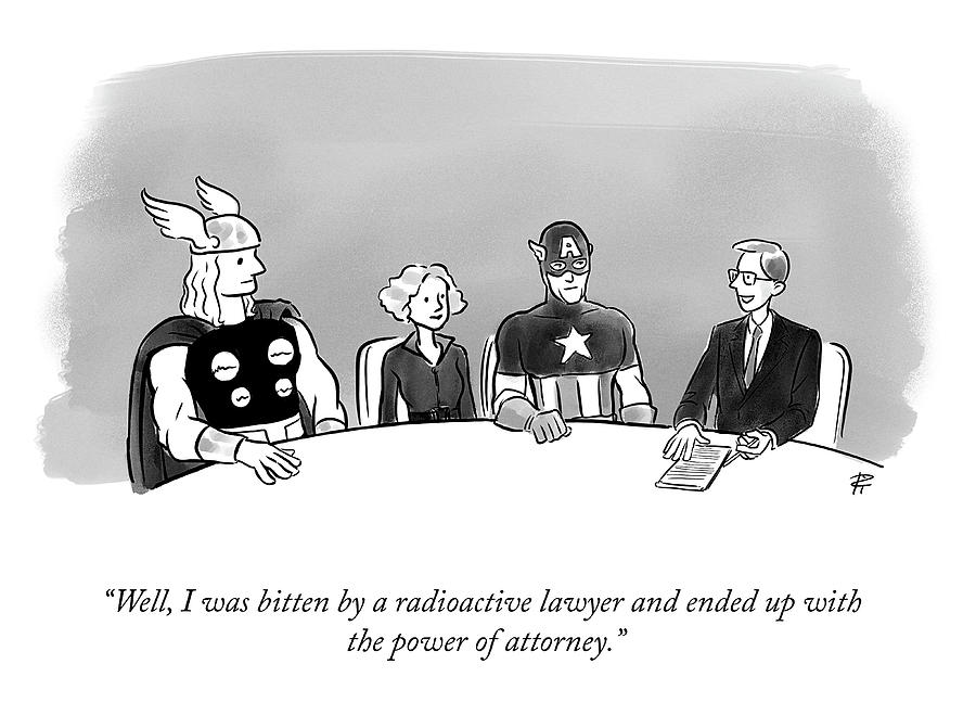 Power of Attorney Drawing by Pia Guerra