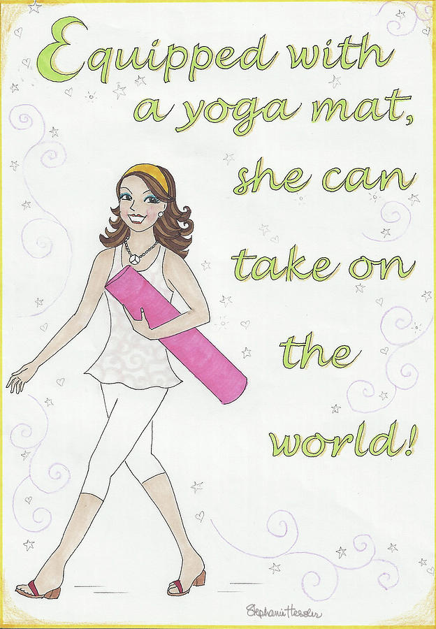 Power of Yoga Mat by Stephanie Hessler