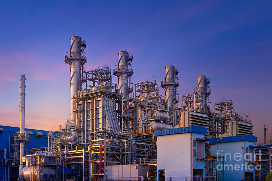 Power Plant,natural Gas Combined Cycle Photograph by Vithun Khamsong