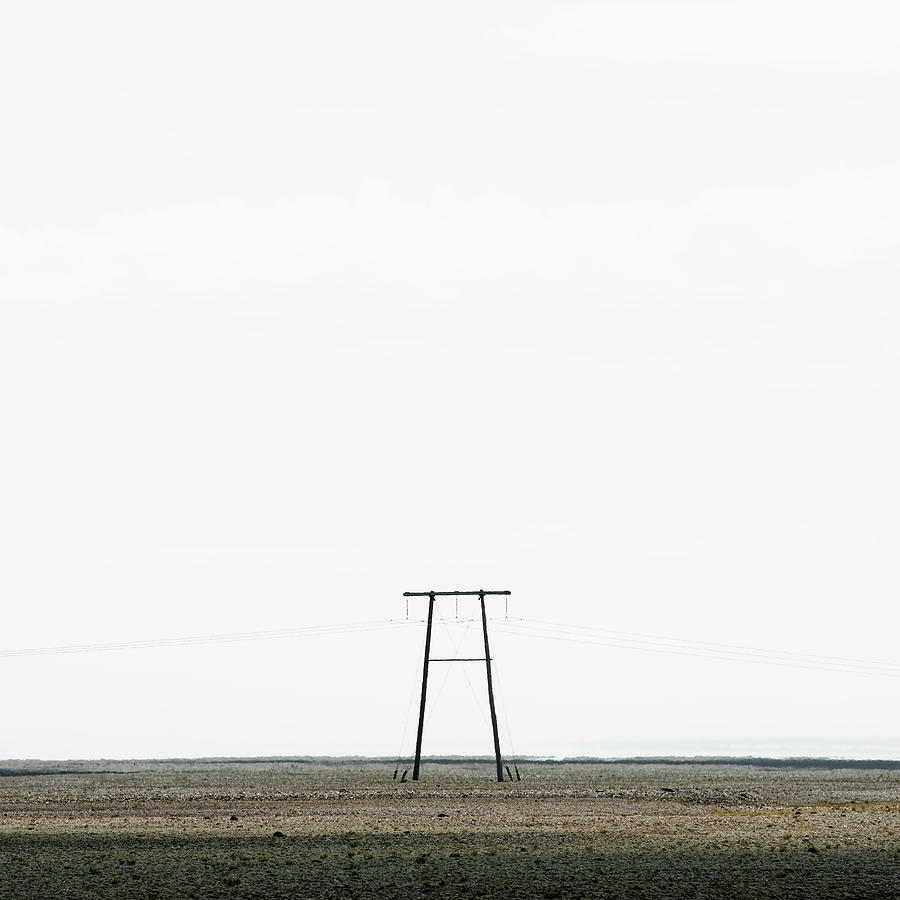 Powerline In Landscape Photograph by Roine Magnusson