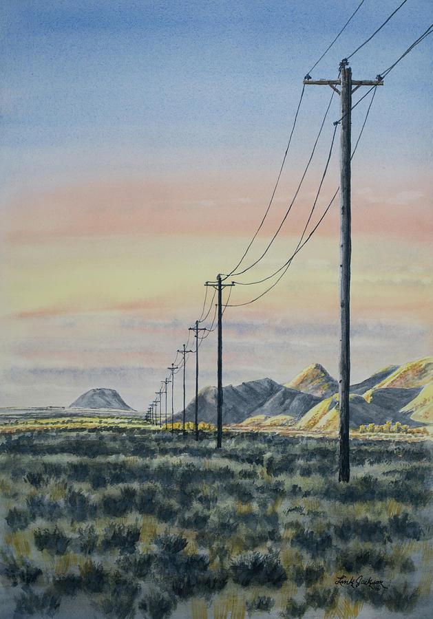 Powerline Sunrise by Link Jackson