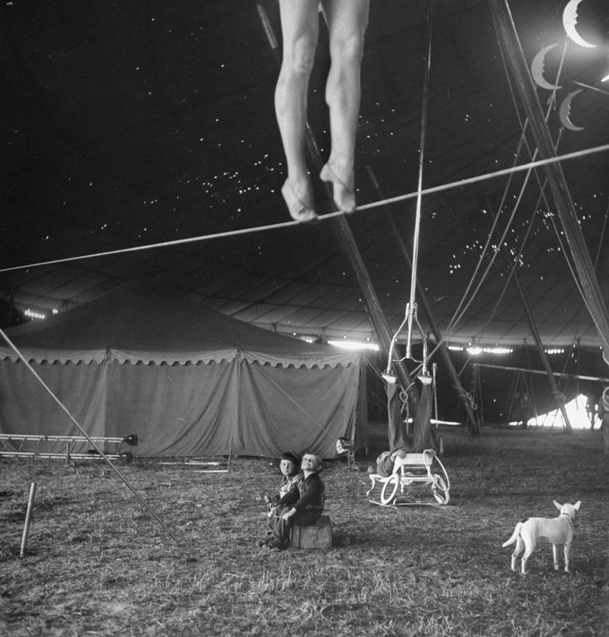 Practice At Ringling Brothers Circus Photograph by Nina Leen
