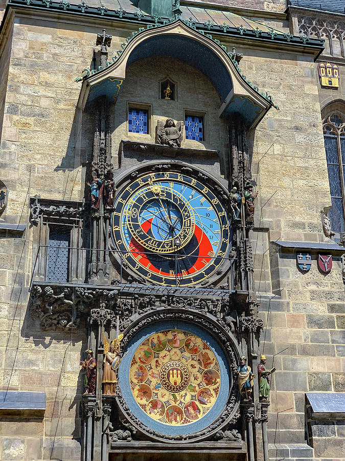 Prague Astronomical Clock Tower In Old Town Square