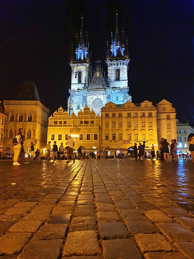 Prague at Night by Andrea Whitaker