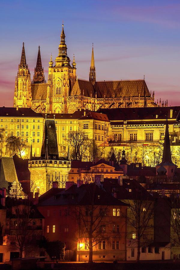 Prague Photograph - Prague At Twilight by Andrew Soundarajan