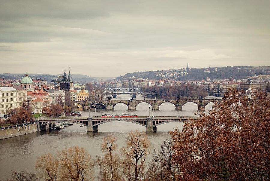 Prague Bridges Photograph by Kevin Reid