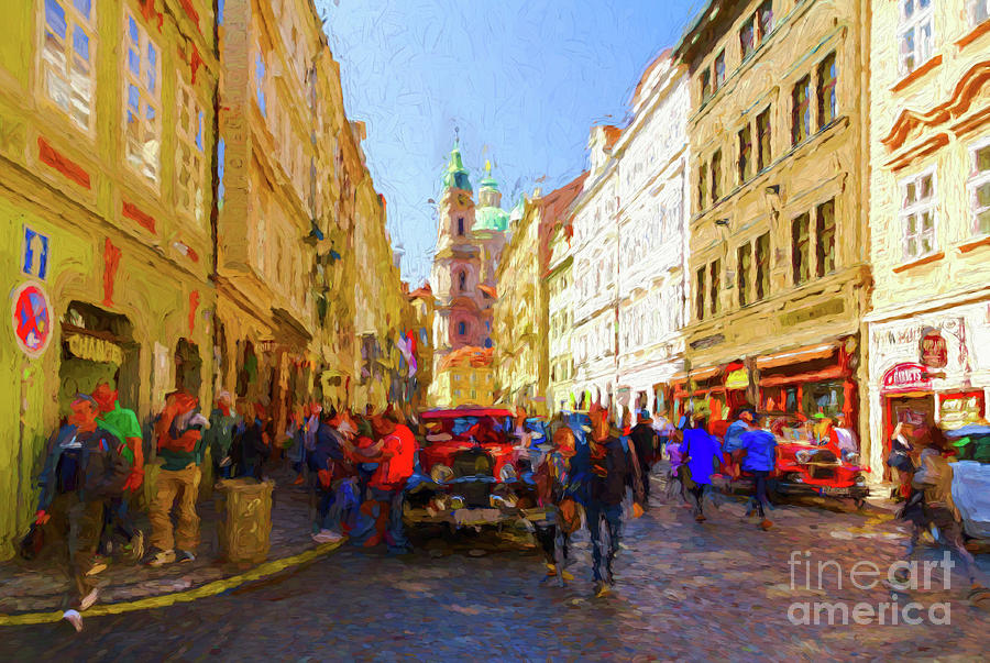 Prague - Mostecka Street by Les Palenik
