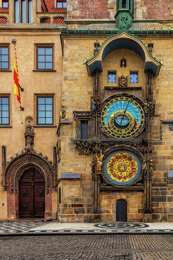 Prague Photograph - Pragues Astronomical Clock by Andrew Soundarajan