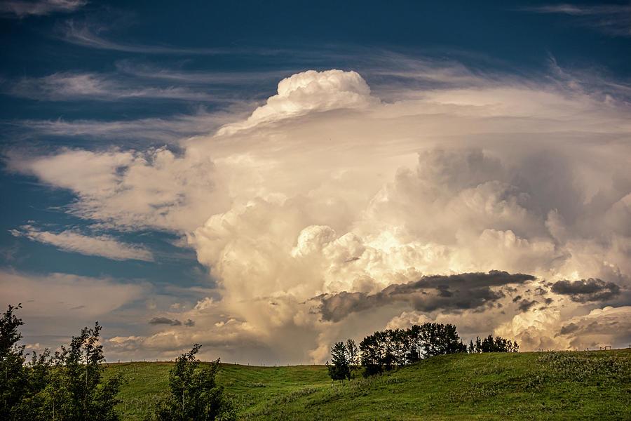 Prairie Summer Thunderstorm by Karen Rispin