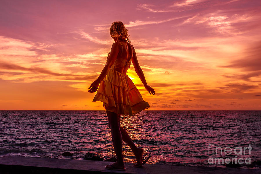 Praslin Seychelles sunset by Benny Marty