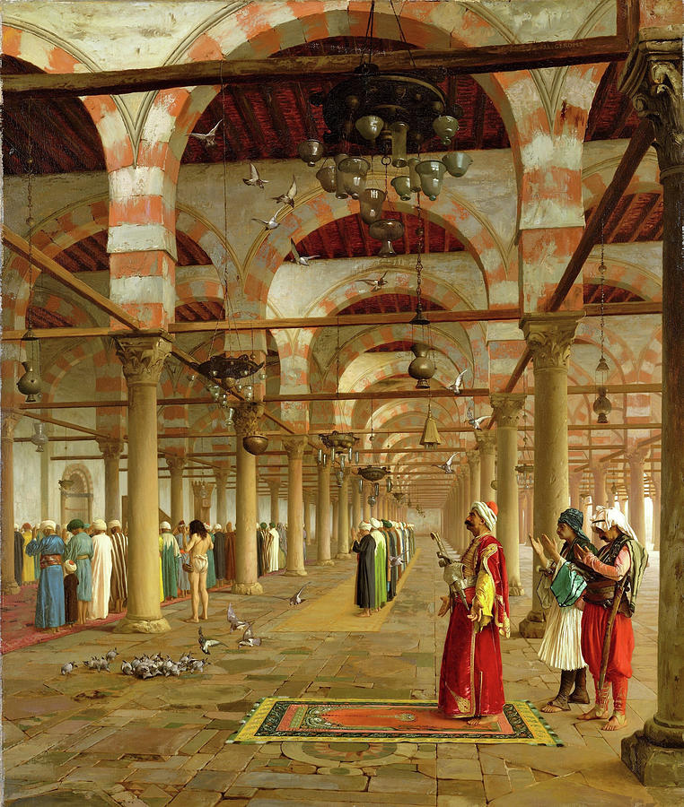 Jean Leon Gerome Painting - Prayer In The Mosque - Digital Remastered Edition by Jean-Leon Gerome