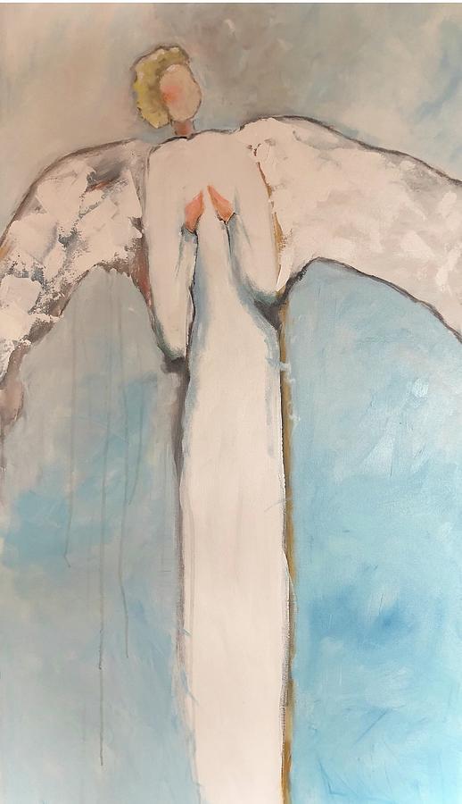 Angels Painting - Prayers by Karen Jordan