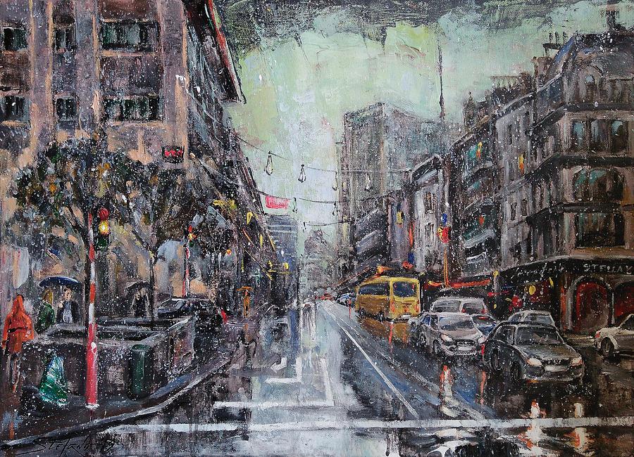 Bruxelles Painting - Pre-Christmas Snow by Stefano Popovski
