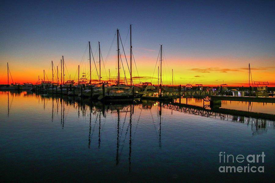 Pre-Dawn Marina Colors by Tom Claud