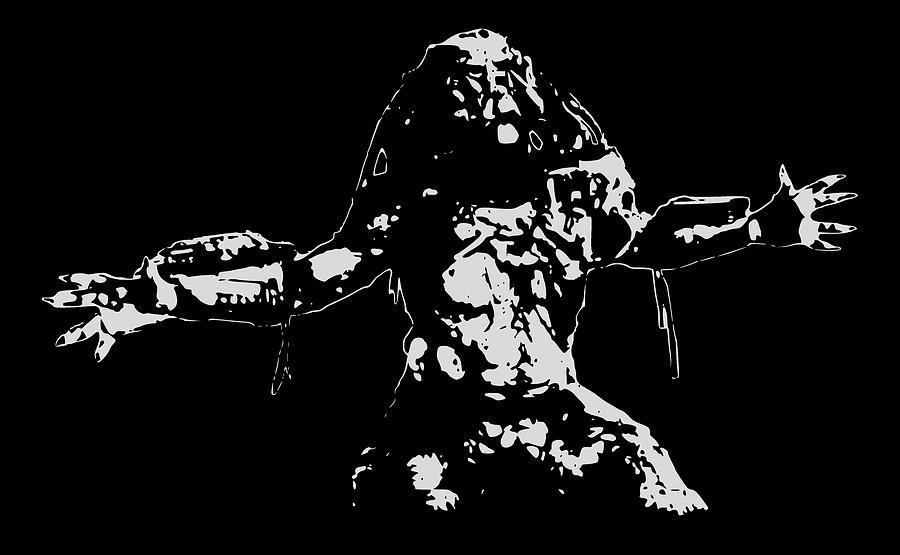 Predator Digital Art - Predator Minimalistic Pop Art by Filip Schpindel